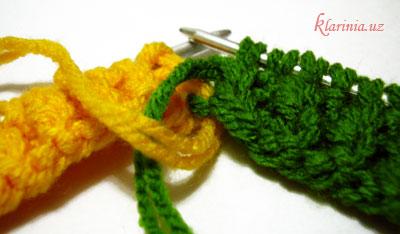 Растаманский шарфик - смена цвета