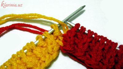 Растаманский шарфик - изнаночный ряд