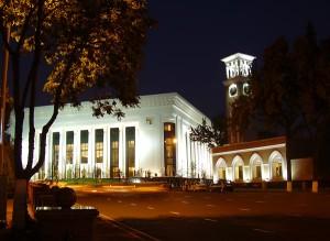 Дворец форумов и новые куранты Ташкента