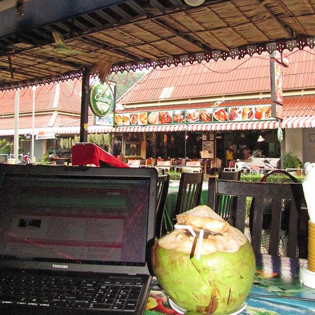 Кокос, ноутбук, Таиланд