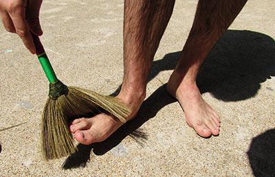 Веник от песка