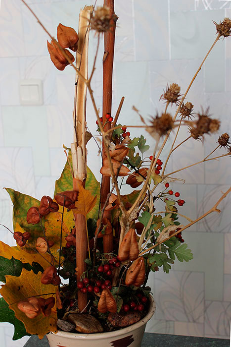 Осенняя икебана