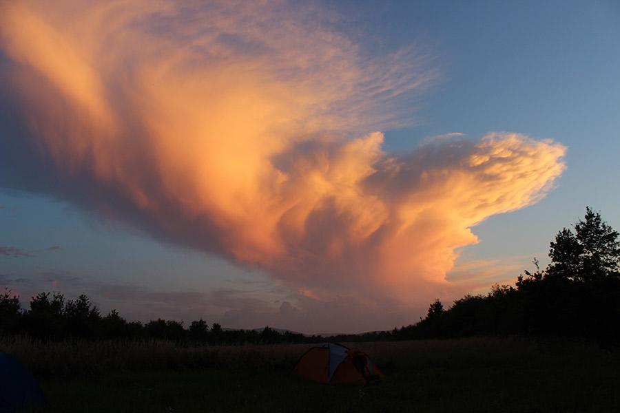 Палатка в поле