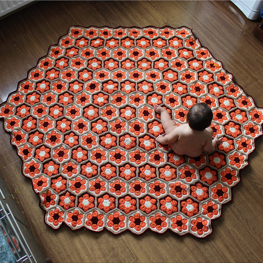 ковры вязанные крючком
